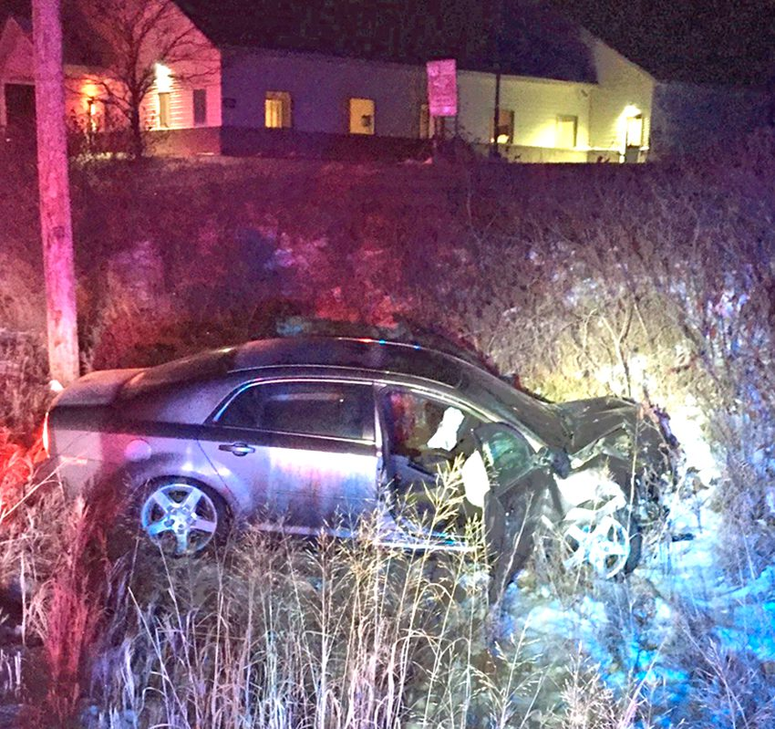 Crash With County Squad Car